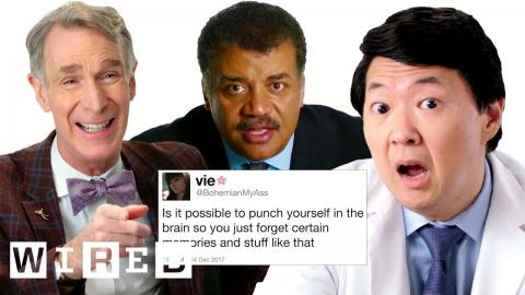 Bill Nye, Neil DeGrasse Tyson and More Answer Science Questions from Twitter | Tech Support | WIRED