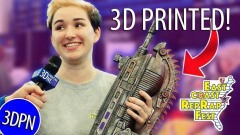 AMAZING 3D Printed Props at East Coast RepRap Festival!