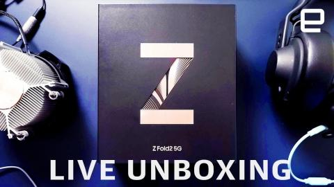 Samsung Galaxy Z Fold2 unboxing LIVE