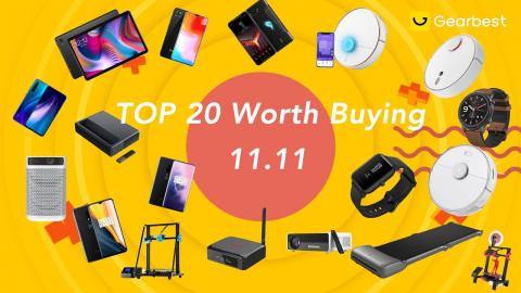 Top 20 worth buying on Single's Day(1111)shopping festival at Gearbest!